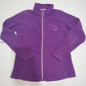 Relay For Life Port Authority Womens Fleece Jacket Purple Full Zip Mock Neck L