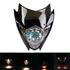 Black Universal Enduro Cross Motorcycle Streetfighter Headlight Fairing Shield