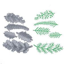 Chic Pine Branch Metal Cutting Dies Stencil Scrapbook Embossing Paper Card Craft