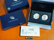 2013 W REVERSE PROOF & ENHANCED SILVER EAGLE 2 COIN WEST POINT SET WITH BOX/COA