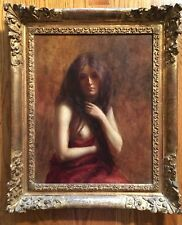 Adolphe Demange Original oil Nue Assis