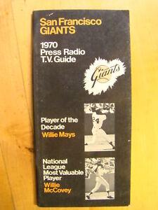 San Francisco Giants  1970 Press Radio T.V. Media Guide Willie Mays Baseball