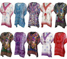 Kaftan Dress Tunic African Tribal Poncho Mexican Hippie Festival Dashiki Thai