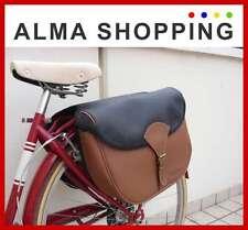 Borse laterali bici bicicletta al portapacchi eco pelle marrone 01048
