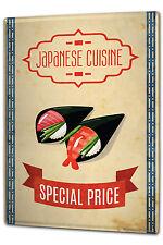 Tin Sign XXL Food Restaurant japanese cuisine metal plate plaque
