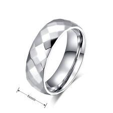 Fashion Simple Unisex Titanium Steel Ring Wedding Engagement Band Size 5-13
