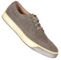 Johnston Murphy Mens J&M 1850 Sport Wingtip Oxfords Size 8.5M Gray Suede Shoes