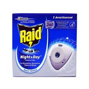Repellent RAID Mosquito Tiger Insect Night & Day Silicon tile - 1 x Refill