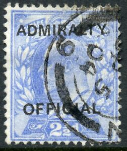 """1903 2½d ultramarine """"Admiralty Official"""" used. S.G.0105"""
