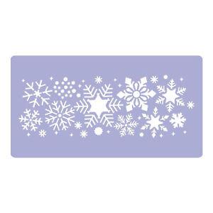 Kunststoff Wiederverwendbare Weihnachtsschablone/ Schneeflocken-Bordüre /Vorlage