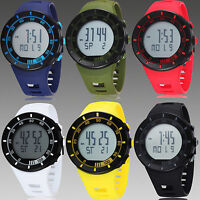 OHSEN Mens Womens Unisex Digital Quartz Day Date Rubber Sport Wrist Watch