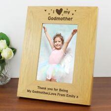 Personalised Godparent 4×6 Photo Frame Christening Present Godmother Godfather