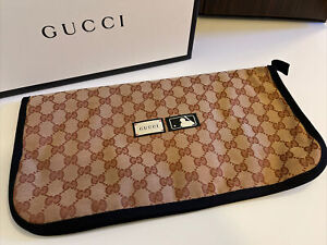 NEW Gucci Monogram Yankees GG Bifold Case Pouch Purse Cover Snap Closure 14.5x8