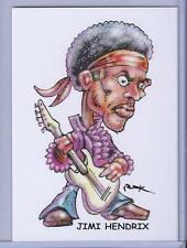 JIMI HENDRIX ** TRADING CARD ART by RAK ** HAND SIGNED NEAR MINT ** SEE MY STORE