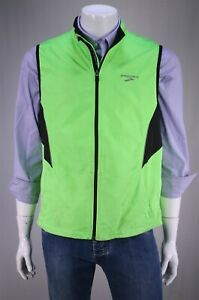 Brooks Neon Green Essential Run Shelter Technology Running Vest Men's Medium