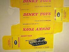 REPLIQUE  BOITE CHAR AMX 13  / DINKY TOYS 1959