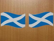 Bandera escocesa / Saltire pegatinas X 2-Para Bicicletas Autos Motos Etc