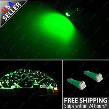 2x T5 Wedge Green 5050 SMD Speedometer Gauge Cluster LED Light Bulb 74 6411 57