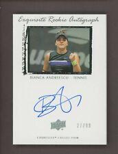 2020 Upper Deck Exquisite Tennis Bianca Andreescu AUTO 27/99