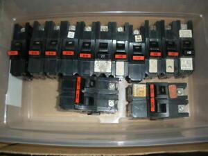 13pcs Federal Pacific Stab-Lok type NA circuit breakers NA120 NA115 NA130 NA230