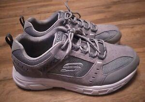 Skechers Memory Foam Mens Grey Walking Casual Shoes Mens 10 Extra Wide