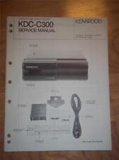 Kenwood Service Manual~KDC-C300 CD Changer/Player~Car Audio~Original Repair
