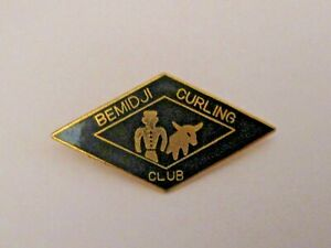 VINTAGE BEMIDJI MINNESOTA CURLING CLUB SPORTS CURLING PIN