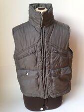 Alpine Ski Vintage Puffy Sports Vest Mens Medium - Gray with 5 Pockets
