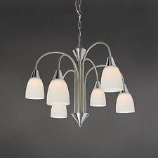 WOFI lámpara colgante LED CASA 6 luces cromo níquel Cristal Blanco 30 vatios