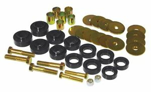 Prothane 67-81 Chevy Camaro Firebird Body Mount Bushing Kit with Hardware BLACK