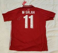Mohamed Salah signed 2019-20 Liverpool Jersey Egypt Premier League PROOF