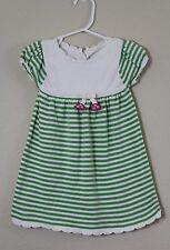 Gymboree Pretty Turtle Green Striped Sweater Dress Baby Girls Size 12-18 Month