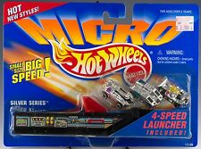 Hot Wheels Micro Silver Series 3 Pack With 4 Speed Launcher MOC 1995