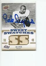 GALE SAYERS Autographed Signed 2010 Upper Deck Jersey card Kansas Jayhawks