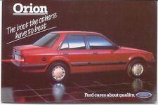 Ford Orion Ghia Original colour Postcard Pub. No. SP 181 dated Oct 1984