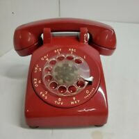 VTG BELL SYSTEM WESTERN ELECTRIC RED HOT LINE ROTARY DIAL DESK BAT PHONE