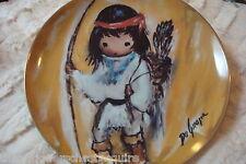 """De Grazia """"My First Arrow"""" 1989, Children at Play Porcelain Collector Plate NIB"""