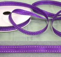 Grosgrain  Stitched 10mm  Purple  Ribbon - 20 metres
