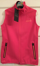 Womens Musto Evolution Soft Shell  Gilet  Water Resistant  Hot Pink Size 10