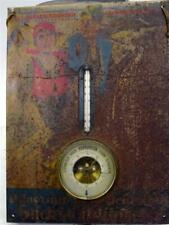 alte Werbetafel Blechtafel I.G. Farbenindustrie Thermometer Barometer [war