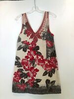 FREE PEOPLE Cotton Dress Made in India - Silk Embroidered Neckline-Size 8 - RARE