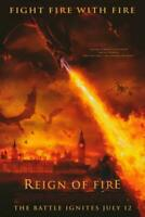 Reign of Fire Movie POSTER 11 x 17 Matthew McConaughey, Christian Bale, C