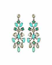 $295 Alexis Bittar Elements Amazonite Chalcedony & Crystal Chandelier Earrings