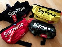 Supreme Box Logo Fanny Shoulder Bag Stud Waist Pack Black Red Yellow Green Camo