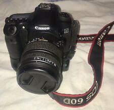 Canon EOS 60D w/Sigma 17-70mm 1:2.8-4 DC OS MACRO HSM Lens, 2 Batteries, Strap
