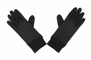 MENS Black SILK Thermal Liner Inner Gloves for Skiing Motorbiking Cycling