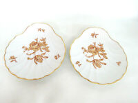 Limoges France Sea Shell Pair of Trinket Jewelry Vanity Dishes 895B