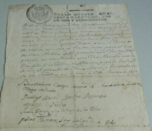Spanish Document Certificate Huesca 1800, Signatures ( u. A.Bartholome Crespo)