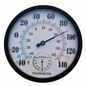 25cm Weather Measurement Thermometer Hygrometer Wall-Mounted Home Decor Display