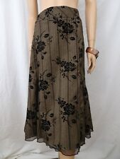 TRUWORTHS Brown Floral Lace Skirt Sz 36 BUY ANY 5 ITEMS = FREE POST